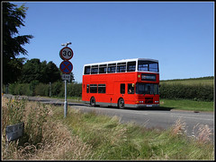 Braunston bound R259 LHK (Jason 87030) Tags: central dublin bus decker volvo olympian williamparker school children kids braunston daventry grass overgrown derelict northants northamptonshire sky boring red hunters r259lhk