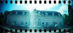 Benrath (somekeepsakes) Tags: 2012 dsseldorf analog analogue benrath crossprocessed deutschland europa europe film germany lomo lomography panorama panoramic schlossbenrath sprocketrocket sprockets xpro