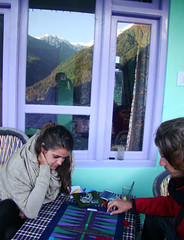 Backgammon with mountain view (Tine72) Tags: backgammon india himachalpradesh himalayas mountains