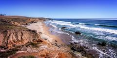 San Simeon, California (Calpastor) Tags: ocean california travel vacation seascape castle water coast san pacific tide wave pch luis hearst cambria simeon slo obispo