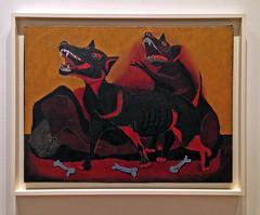 Animals (ArtFan70) Tags: animals rufinotamayo tamayo museumofmodernart moma artmuseum midtown midtownmanhattan manhattan newyorkcity nyc newyork ny unitedstates usa america art painting animal dog dogs canine canines bone bones