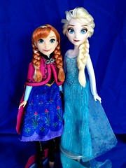 Hasbro's Elsa & Anna (honeysuckle jasmine) Tags: anna frozen dolls princess disney queen elsa