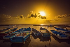 Seas of Gold (miTsu-llaneous) Tags: trinidad trinidadandtobago sunset boatyard brickfield sea landscape seascape ocean boats boat sun sky clouds nature nikon d5200 tokina 1116mm