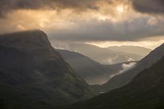 Heart of the glen (Mandlenkhosi) Tags: nikond800 nikonafsvr70300f4556gifed glencoe bideannambian threesisters the3sisters scotland sunset evening hillside mountain highlands