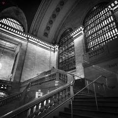 Patiently Waiting (BeyondThePrism) Tags: city structure downtown new york newyork newyorkcity grandcentralstation grandcentral centralstation bw blackandwhite blackwhite structural building interior inside indoor indoors up lookingup lookup window windows shine shining shiningthrough bright dark vignette vignetting architecture stone stonebuilding arch rail stairs railing steps stair person wwwbeyondtheprismcom beyondtheprism beyond prism jpcastonguay jeanphilippecastonguay castonguay jpc noir blanc nb morning morningsun early grit arge large largerthanlife huge massive gigantic hugebuilding massivebuilding humungous enormous wide wideangle broad