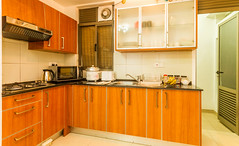 Fully equipped open plan kitchen (T and V Boutique Apartments) Tags: vacation court hospital apartment budget central rental sri lanka national ceylon accommodation spa colombo groups fully hedges serviced hayleys odel asiri