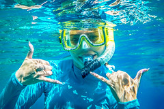 Hang Loose [EXPLORED] (SoCal Mark) Tags: snorkel snorkeling water ocean plan fun swim reef hawaii hi maui island mask hang loose wailea fairmont 2016 vacation tropical paradise