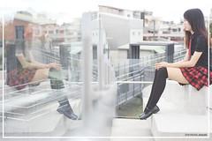 YNL_2564 () Tags: city girl reflect  kneesocks