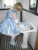 CIMG6803 (sissybarbie1066) Tags: baby satin sissy maid uniform blue cleaning bathroom basin sissymaid