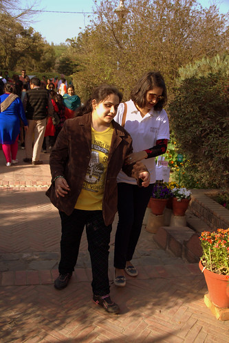 Garden Tourism Festival 2016: Ambika and her travel buddy at the festival.