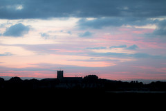 Priory Sky (BournemouthMike) Tags: christchurch christchurchpriory dorset bournemouth hengistburyhead sky clouds colours dusk evening canon canon70d landscape