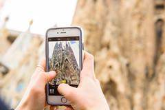 Sagrada Familia (SamHardgrove) Tags: sagrada familia barcelona through iphone camera pip