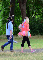 A Walk In The Park. (curly42) Tags: people costume walkers charityrace pittvillepark cheltenham
