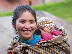 Peruvian Woman and Child (cheryl strahl) Tags: peru incan inca awanakancha cultural textile cusco south america andrean fabric weavings