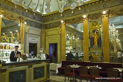 Turin-Cafe in Piazza San Carlo (doveoggi) Tags: 9111 city italy piedmont turin cafe piazzasancarlo piazza