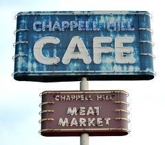 Chappell Hill Cafe - Meat Market (Rob Sneed) Tags: texas chappellhill brenham brazosriver chappellhillsausage chappellhillcafe chappellhillmeatmarket hwy290 cafe meatmarket retail famous sign neon vintage rural community smalltown washingtononthebrazos texana american texan advertising americana links barbque brisket