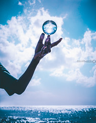 Levitation (bajanfari) Tags: sky beach levitate barbados caribbean fun reflection