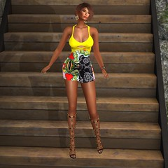 LEGENDAIRE- Beach and Night Dress (XiomaraLavendel) Tags: legendaire iconic ryca realevil shoes accessories casualchic casual xiomaralavendel secondlifemodel slmodel slfashion secondlifefashion