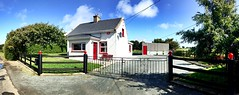 Our freshly painted fence (JulieK (finally moved to Wexford)) Tags: panorama hff fence