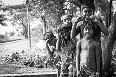 Forever friends (haqiqimeraat) Tags: children people portraiture portrait bangladesh chittagong contrast composition nikon 50mmf18 monochrome group d7100 smile happy happiness