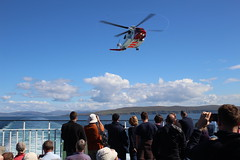 Coastguard on training exercise in The Minch (Zinaad) Tags: coastguard helicopter the minch hebridies hebridean ferry lochmaddy uist blue sky