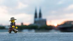 Kln Sunset (Reiterlied) Tags: 18 35mm bridge cathedral cologne d5200 dslr dom germany kln lego legography lens minifig minifigure nikon photography prime reiterlied sigfig stuckinplastic toy