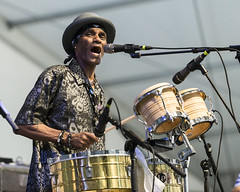 Cyril Neville, Voice Of The Wetlands All Stars at Jazz Fest 2015, Day 5, May 1