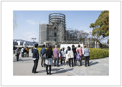 Hiroshima Peace Memorial (広島平和記念碑) Encased (Pictures from the Ghost Garden) Tags: world color colour japan nikon memorial war nuclear hiroshima ii dome dslr bomb atomic warfare genbaku 原爆ドーム 18105mm d7100 dōmu