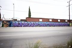 PLEK BLK P82 THANX OMEX (Chasing Paint) Tags: graffiti la losangeles mural production graff wai thanx blk uti plek omex p82 blking blacklightking thankxone