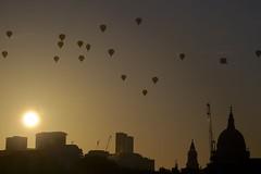 Wylie_London Dawn Flight 4 (ianwyliephoto) Tags: london sunrise dawn flight historic shoreditch hotairballoon launch stpaulscathedral walkietalkie cityoflondon cheesegrater theshard lordmayorsappealballoonregatta