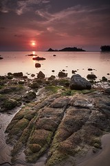 Riding the Turtle's Back (Eddie HBH) Tags: seascape mountains water sunrise thailand rocks australia kosamui