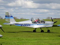 G-CEDX Cosmik Aviation EV-97 TeamEurostar UK cn 2827 Sywell 23Apr16 (kerrydavidtaylor) Tags: eurostar aerotechnik