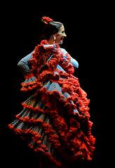 9865 (G de Tena) Tags: flores rojo nikon negro flor traje flamenca bailar trajedegitana