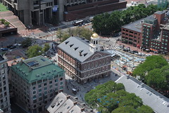 Faneuil Hall viewed from Custom House Tower observation deck (David Coviello) Tags: boston architecture buildings massachusetts customhouse