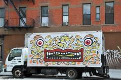 Nothing Like Seeing A Happy Face To Get Me Off The Bus (Trish Mayo) Tags: art harlem urbanart truckart urbanimal thebestofday gnneniyisi