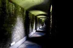 Somewhere only she knows (deebushuk) Tags: city urban green shadows walk cardiff tunnel figure lightandshade