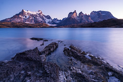 Paine | Torres del Paine National Park, Patagonia (v on life) Tags: torresdelpainenationalpark torresdelpaine lakepehoe patagonia chile sunrise cuernosdelpaine water lake longexposure parquenacionaltorresdelpaine southernpatagoniaicefield lakepeho hosteriapehoe wow