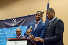 Jason and Jarron Collins address the LGBT caucus (DemConvention) Tags: dnc dncc jason collins jarron