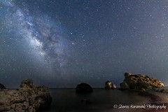 Milky way seaside (stavros karamanis) Tags: nightphotography sea sky beach nature beautiful rock skyline night canon dark landscape seaside colours outdoor ngc cyprus bluesky tokina galaxy nightsky dslr f28 t3i milkyway landscapephotography canonphotography skylovers πέτρα 1116mm dxii πάφοσ ρωμιού