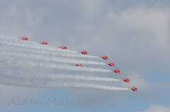 The REDS say good bye (airbusa320) Tags: raf red arrows bray air display smoke on