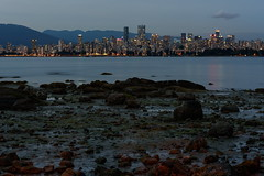 Vancouver View (TigerPal) Tags: silhouette skyline night vancouver port landscape evening downtown cityscape bc view harbour britishcolumbia vista canadaday foreshore pointgrey july1st silhouettephotography