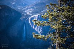 Yosemite Falls from Sentinel Dome (josefrancisco.salgado) Tags: california usa yosemitefalls us waterfall nikon unitedstatesofamerica yosemitenationalpark nikkor catarata d5 cascada sentineldome sentineldometrail 85mmf18g