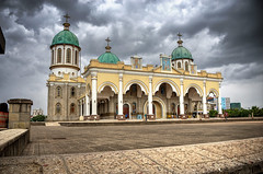 Cathedral in a cloudy afternoon (Israel DeAlba) Tags: cathedral church afternoon africa addisababa ethiopia plaza catedral nubes tarde israeldealba nwn