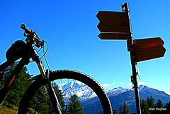 Autumn Riding around Verbier  (97) (Carl and Sian) Tags: orange alps switzerland mtb mountainbiking verbier singletrack orangefive bikeverbier alpinesingletrack carlandsian