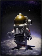 One Small Step (LegoKlyph) Tags: lego space astronaut nasa custom moonwalk neilarmstrong