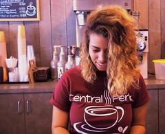 Victoria (~nevikk~) Tags: woman smile menu longhair cups coffeehouse kevinkelly cafeworker