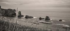 Urros (-Salitre fotografa-) Tags: urros arna bnw blackandwhite sea coast rocks cantabria northcoast
