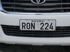 Nauruan license plate!