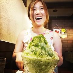 Green tea ice (marcoslandin) Tags: green tea old japan japon fukuoka shotswithdidi