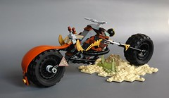 Steampunk-style chopper (10) (adde51) Tags: adde51 lego chopper motorcycle bike steampunk brown desert npu foitsop